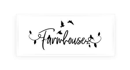 Farmhouse, vector. Wording design, lettering isolated on white background. Wall decals, wall art, artwork Home Art decor, Wall Decals, Art Decor, Poster design