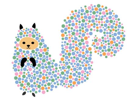 ardilla: Vector illustration of a cartoon squirrel. Stylized chipmunk. Art for children. Animal from geometric figures. Vectores