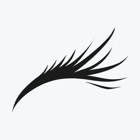Logo of eyelashes in Black and white illustration.