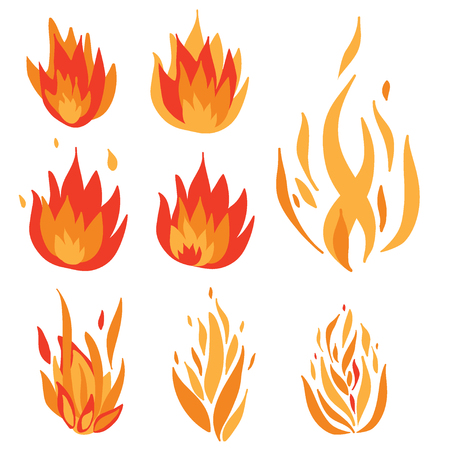 Collection of stylized flames.