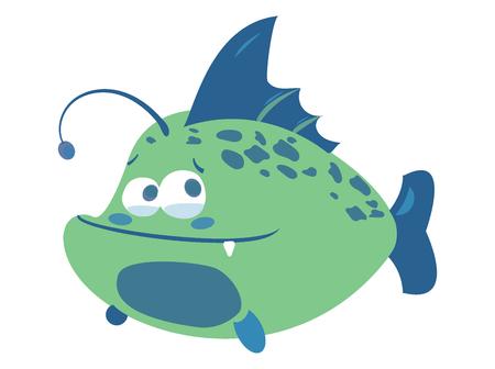 Cartoon fish. Funny sea fish. Vector illustration Illustration