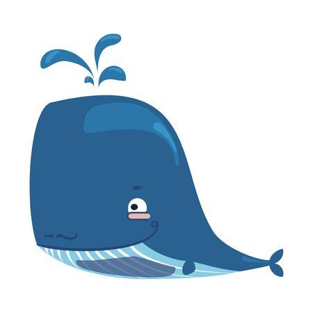 Lovely baby whale illustration. Illustration