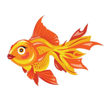 Cartoon goldfish