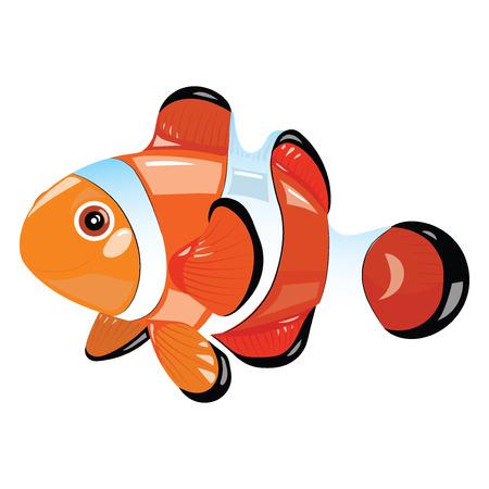 Cartoon fish. Funny sea fish. Vector illustration for children.