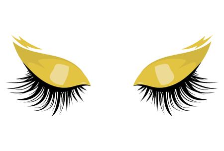 Logo of eyelashes. Stylized hair. Abstract lines of triangular shape. Black and white vector illustration. Stock Illustratie