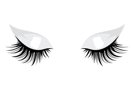 Logotipo de las pestañas. Cabello estilizado. Resumen líneas de forma triangular. Ilustración vectorial en blanco y negro.