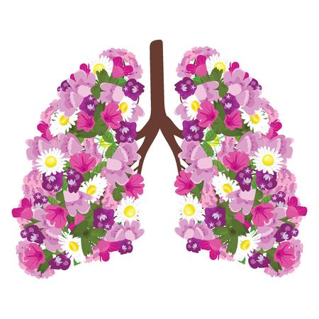 Human lungs icon.  イラスト・ベクター素材