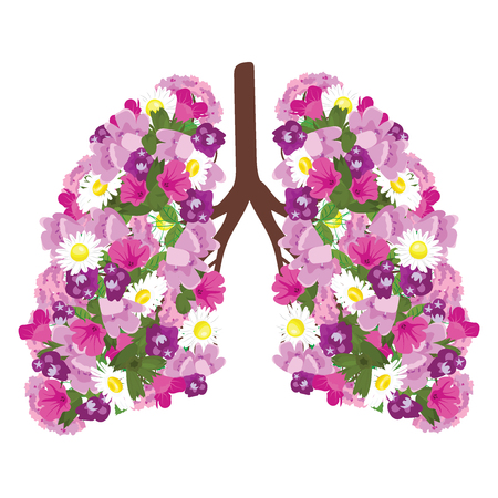 Human lungs icon. Stock Illustratie