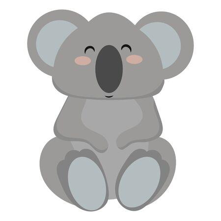 Cartoon koala.Vector illustration of a koala. Drawing animal for children. Zoo for kids. Ilustração