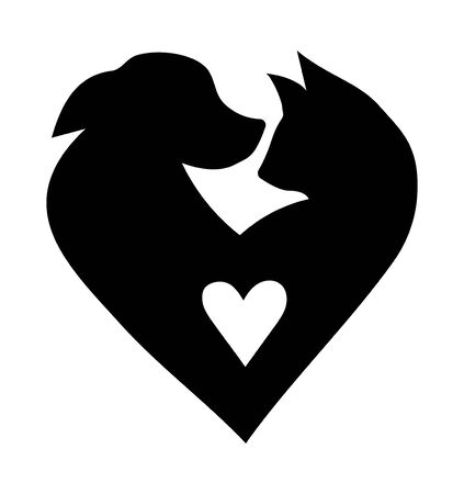 Veterinary icon Illustration for pet shop. Drawing with pets. Banque d'images - 130094202