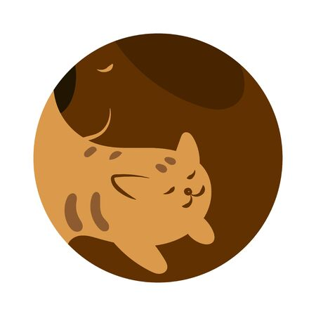 Veterinary. Illustration for pet shop. Drawing with pets. Stylized design with a dog and a cat.