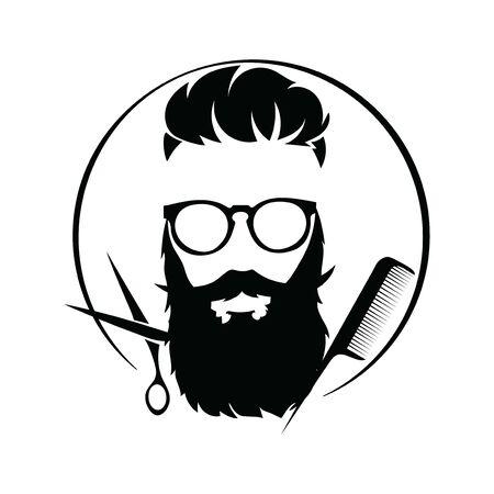 design for the hairdresser. Black and white design for a barbershop.Vector illustration for hairdresser.