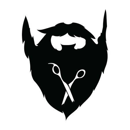 design for the hairdresser. Black and white design for a barbershop.Vector illustration for hairdresser. 免版税图像 - 130654015
