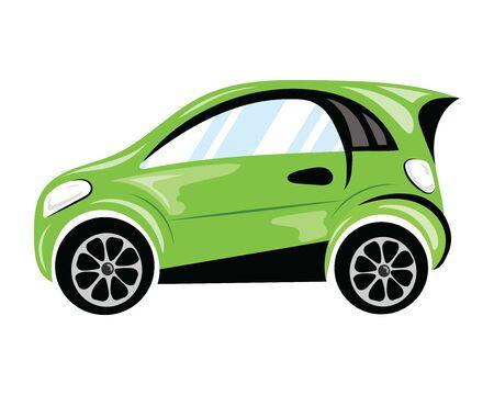 Cartoon cars. Truck. Transport. Vector illustration for children.