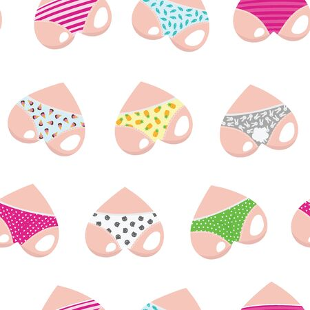 Vector set of hearts. Valentine s Day. Hearts like cute asses. Collection of stylized hearts in shorts.