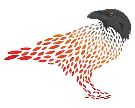 A cartoon crows. Stylized rook. Vector illustration of a bird.