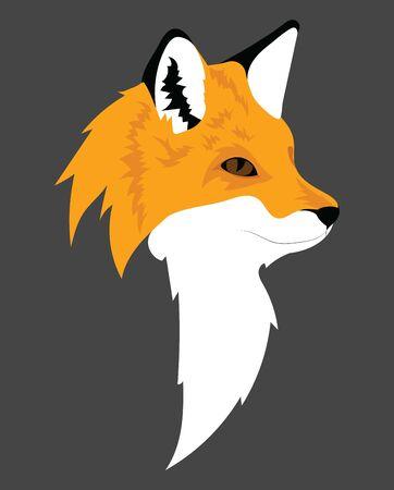 Stylized fox. Cartoon wild forest animal. Zoo. Vector illustration. Art for children. Ilustração