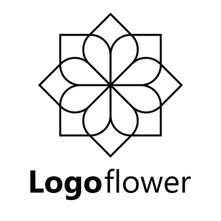 Blooming cherry. Sakura branch with flower buds. Black and white drawing of a blossoming tree in spring. Logo with Japanese cherry blossoms. Tattoo. Linear Art. Standard-Bild - 130018359