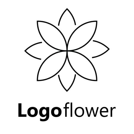 Blooming cherry. Sakura branch with flower buds. Black and white drawing of a blossoming tree in spring. Logo with Japanese cherry blossoms. Tattoo. Linear Art. Standard-Bild - 130018362