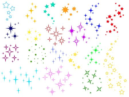 Sparkle lights stars set. Glowing light effect star. Sparkle lights vector. Collection of logos with stars. Set of constellations.