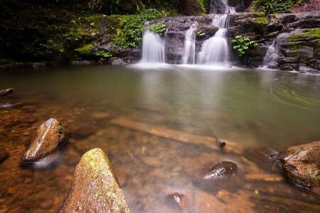 gondwana: Lamington National Park  Elabana falls in the gold coast hinterlands on the nsw border