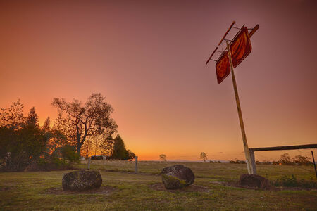 Outback sign at sunset  photo
