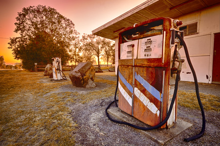 Old rusted pump in the outback
