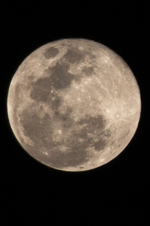 qld: View of the moon from Brisbane, QLD, Australia - September 2014.