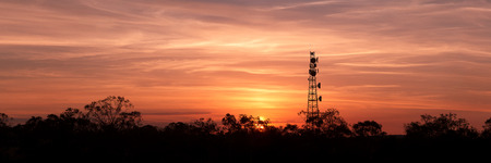 Radio Tower with sky - Panoramic