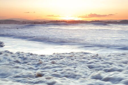 new south wales: Sea foam created by the agitation of seawater located at Snapper Rocks Gold Coast New South Wales border.