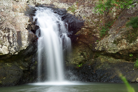 Waterfall near Montville Sunshine Coast Hinterlands in Queensland. Stock Photo