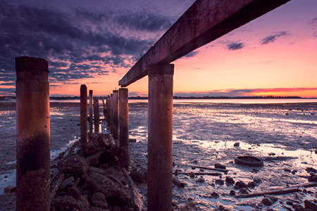 queensland: Cleveland pier in the late afternoon. Brisbane, Queensland, Australia. Stock Photo