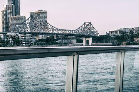 Iconic Story Bridge in the afternoon. Brisbane, Queensland, Australia Stock Photo