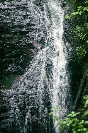 natural bridge: Natural Bridge Waterfall at Springbrook in Queensland. Stock Photo