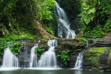 クイーンズランド、オーストラリアのラミントン国立公園にある滝。 写真素材 - 51111234