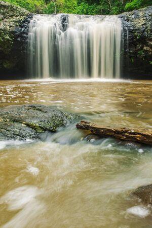 unaffected: Lip falls in Beechmont, Queensland, Australia. Located in the Denham Reserve.