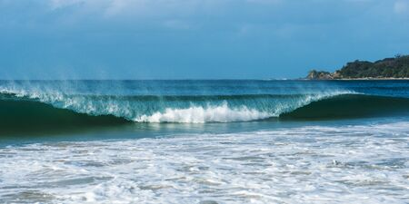 byron: Byron Bay beach waves in New South Wales, Australia