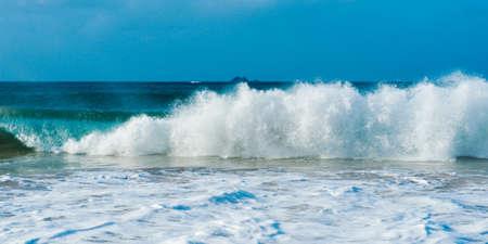 byron: Byron Bay beach waves in New South Wales, Australia