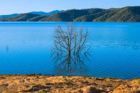 qld: Lake Wivenhoe in Queensland during the day. Apart of Wivenhoe Dam.