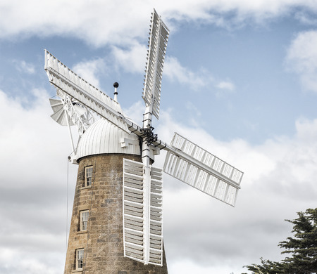 tasmania: Historic and amazing Callington Mill in Oatlands, Tasmania, Australia on a clear winters day.
