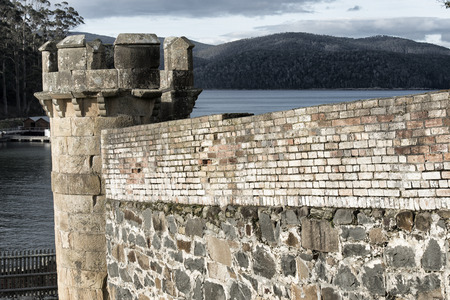 convict: Port Arthur the old convict colony and historic jail located in Tasmania, Australia Editorial