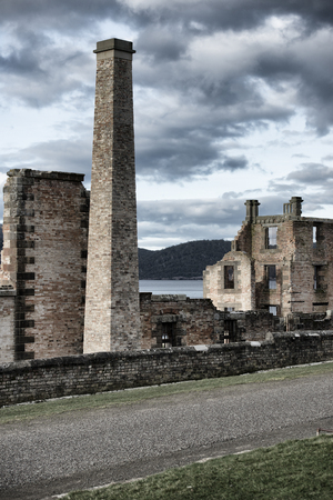 Port Arthur the old convict colony and historic jail located in Tasmania, Australia Editorial
