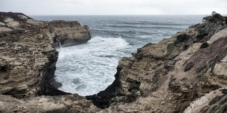 La gruta en el Parque Nacional de Port Campbell. Great Ocean Road en Victoria, Australia.
