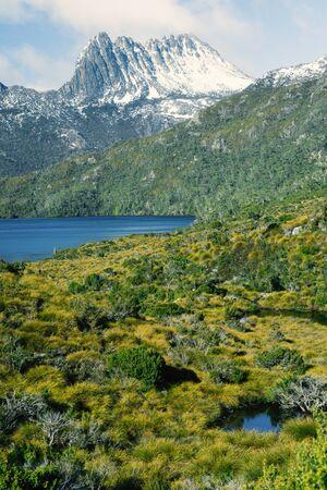 tasmania: View of a cradle mountain in Tasmania, Australia.