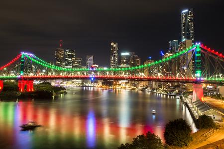 브리스번, 퀸즐랜드, 호주의 상징적 인 스토리 브리지 스톡 콘텐츠