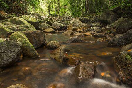 Natural Bridge Creek at Springbrook in Queensland.