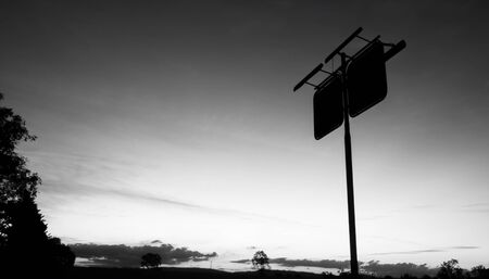 abandoned gas station: Rusted fuel station sign in the countryside of Brisbane, Queensland. Black and White
