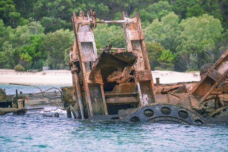 Tangalooma Island sunk shipwrecks in Moreton Bay, Queensland.