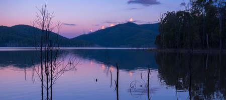 Hinze dam in the Gold Coast Hinterlands at dusk