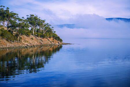 View of Bruny Island in Tasmania, Australia.
